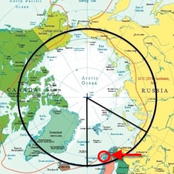 Map of Arctic Circle