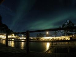 Aurora Borealis from Reine's cabin.